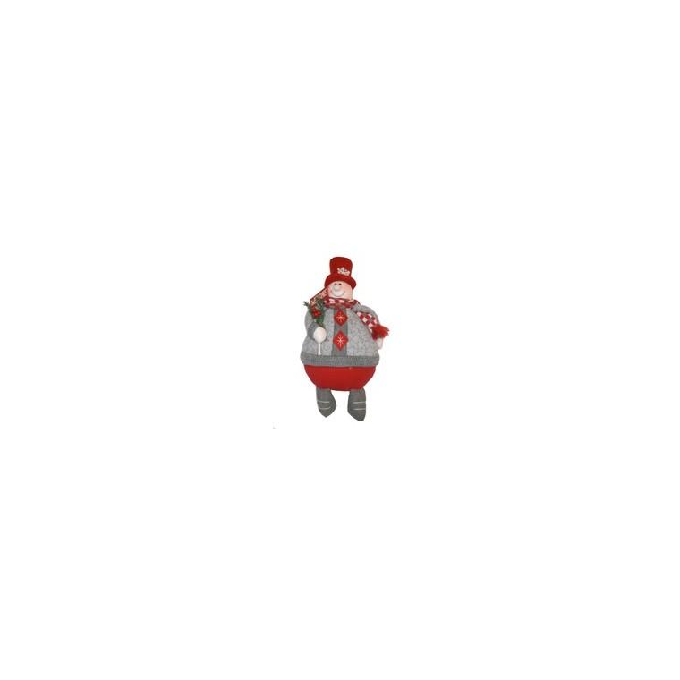 Personnage de Noël à poser garçon 34 cm