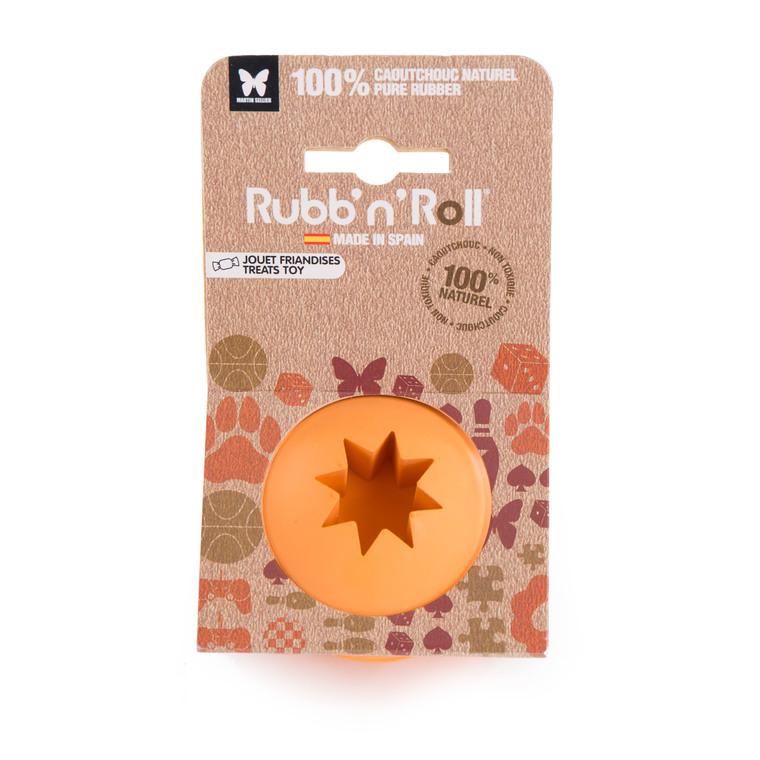 Balle en caoutchouc Rubb'n'Roll Friandises orange Ø 7 cm 526512