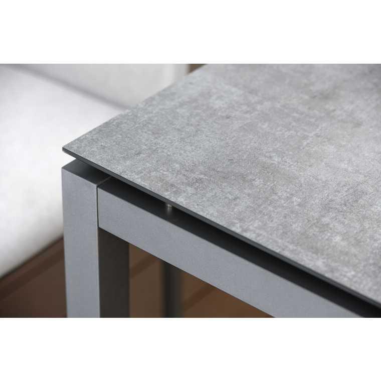 Plateau fin HPL gris metalic de 90 x 90 x 1,3 cm 528473