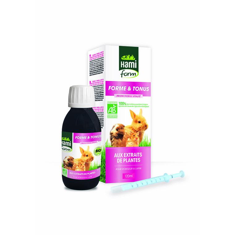 Complément alimentaire forme et tonus bio pour rongeurs de 120 ml 529204