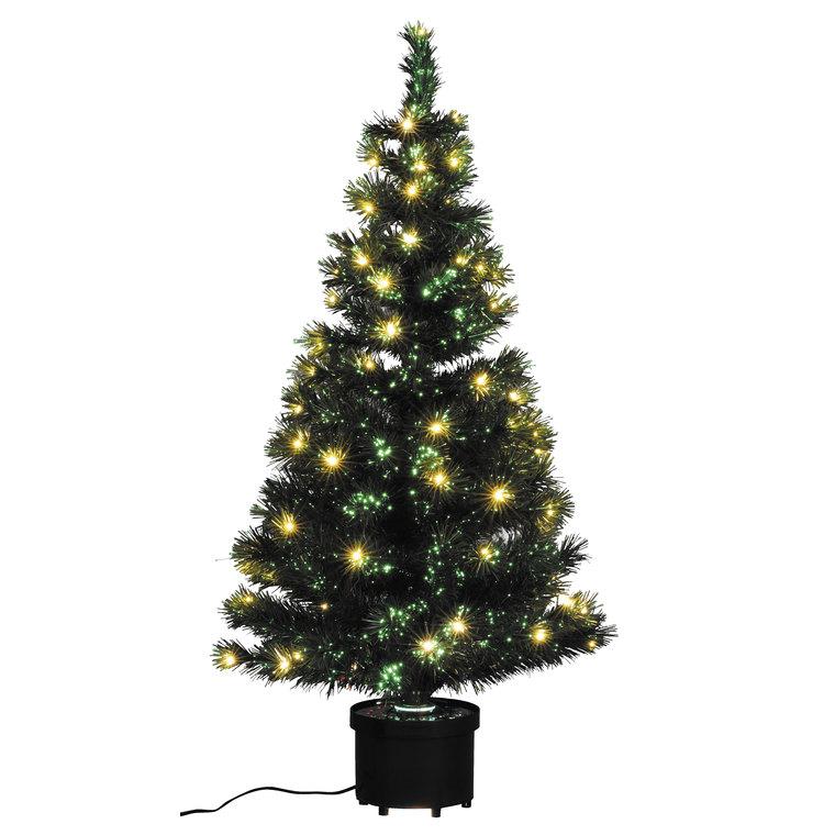 Sapin de Noël artificiel vert lumineux blanc chaud 120 cm 53025
