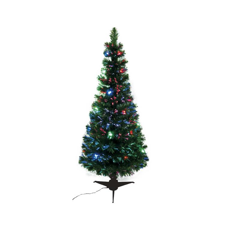 Sapin de Noël artificiel vert lumineux multicolore 120 cm 53026
