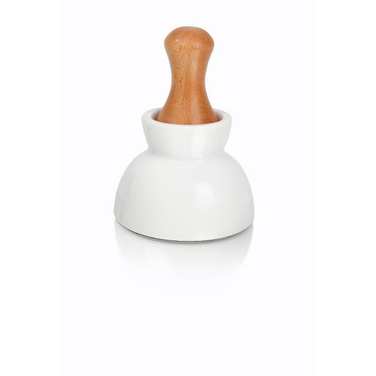 Mortier et pilon double céramique Ø11,5xH8,5 cm 530985