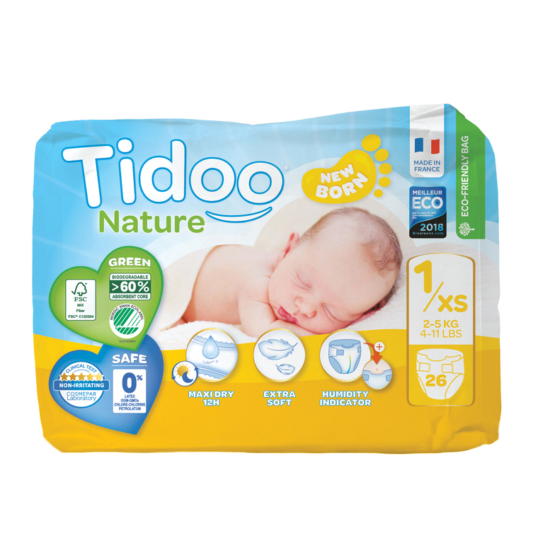 Couches Single T1 Newborn Tidoo x26 534277
