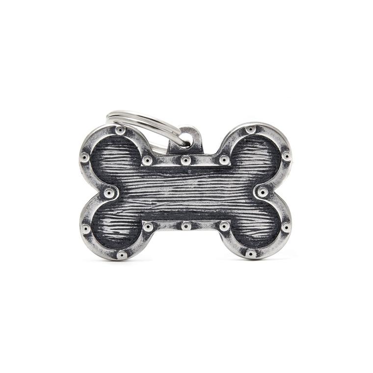 Médaille bronx grand os pour chien décoration rivets en métal 534344