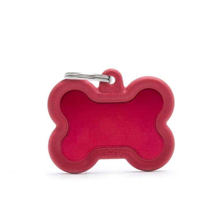 Médaille hushtag os rouge en aluminium 534359