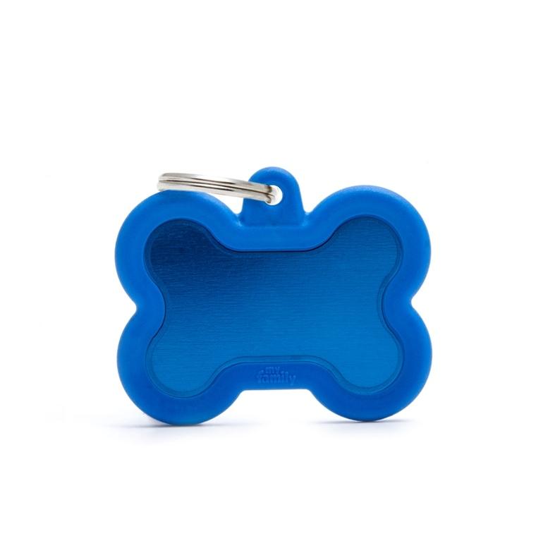 Médaille hushtag os bleu en aluminium 534360