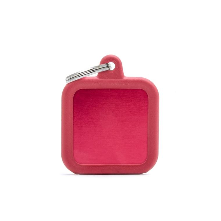 Médaille hushtag carré rouge en aluminium 534363