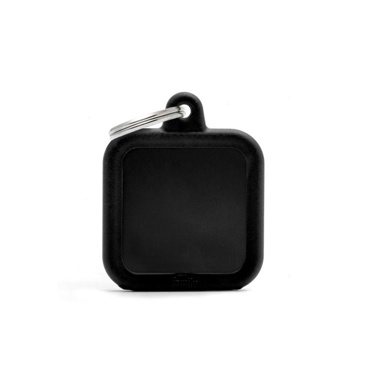 Médaille hushtag carré noir en aluminium 534365