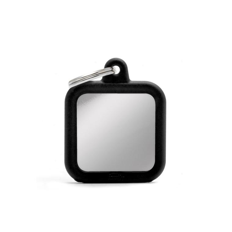 Médaille hushtag carré métallisé en aluminium 534366