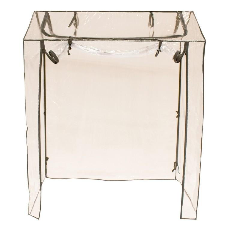 Housse PVC transparente pour support d'étagère tour 122x81x36 cm 534376