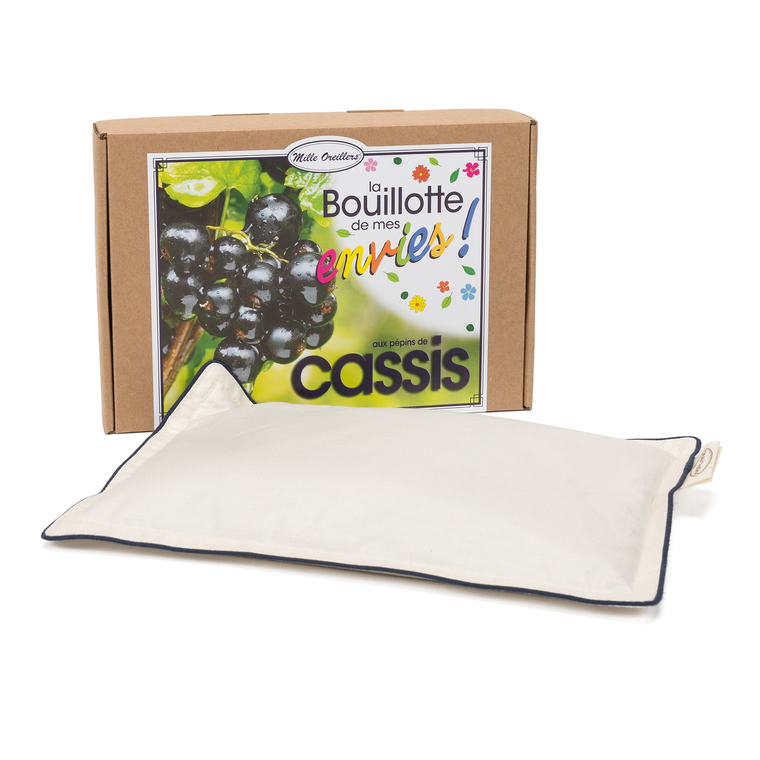 Bouillotte aux Pépins de Cassis Boîte 18 x 25 cm beige 535118
