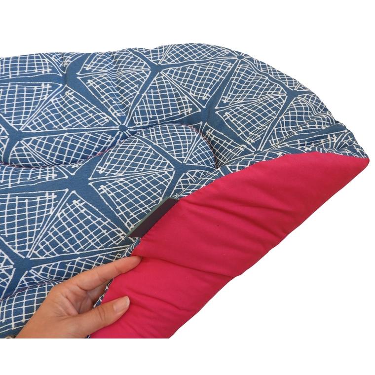 Coussin ovale pour chien Comfort pink spider Somn en tissu bleu 80 cm 535373