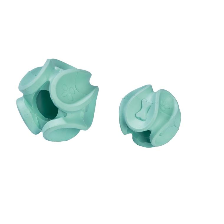 Jouet Wave balle en caoutchouc bleu lagon taille S Ø 5,8 cm 535884