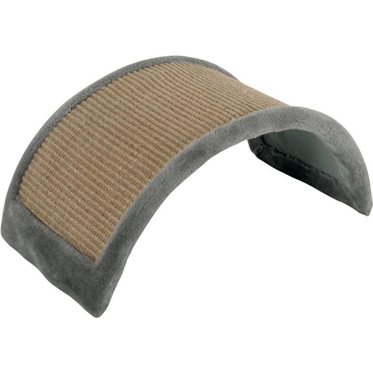 Griffoir à poser forme pont gris en bois et chanvre 43x25x21 cm 535942