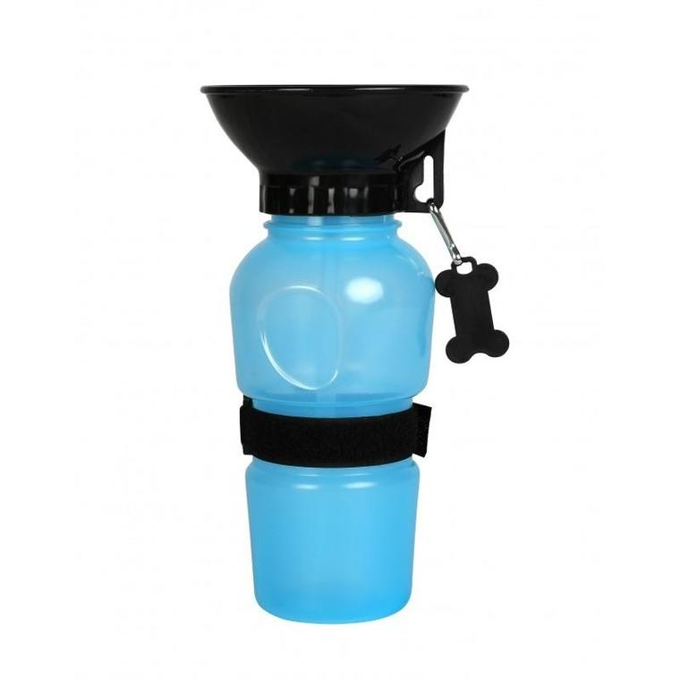 Gourde avec bol intégré bleue 500 ml 536071