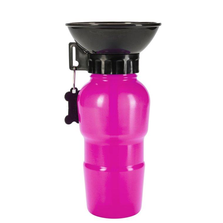 Gourde avec bol intégré rose 500 ml 536072