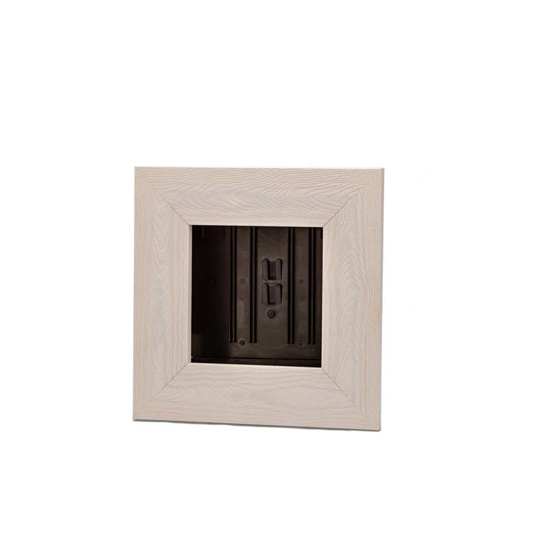 Cadre végétal vide en vieux bois blanchi taille S 31 x 31 cm 536498