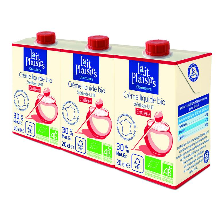 Crème liquide entière 3x20cl LAIT PLAISIRS 54002