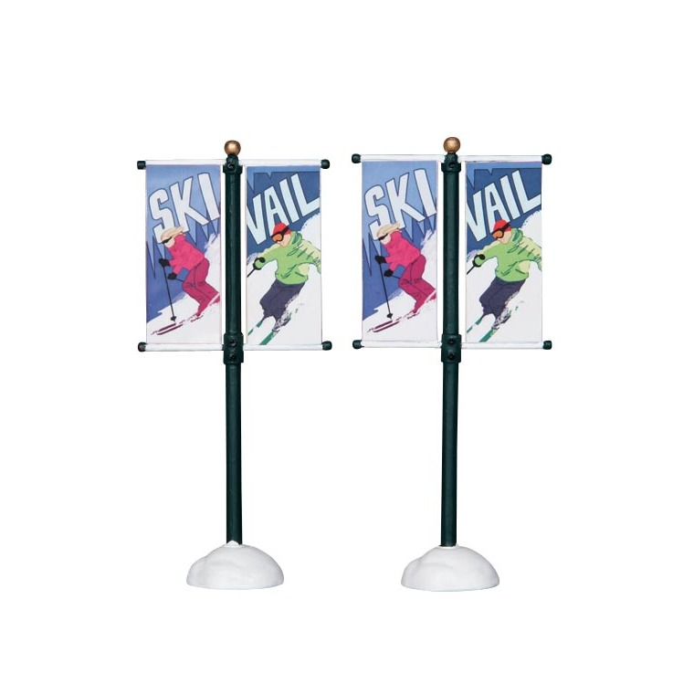 Drapeaux domaine skiable x2 54059