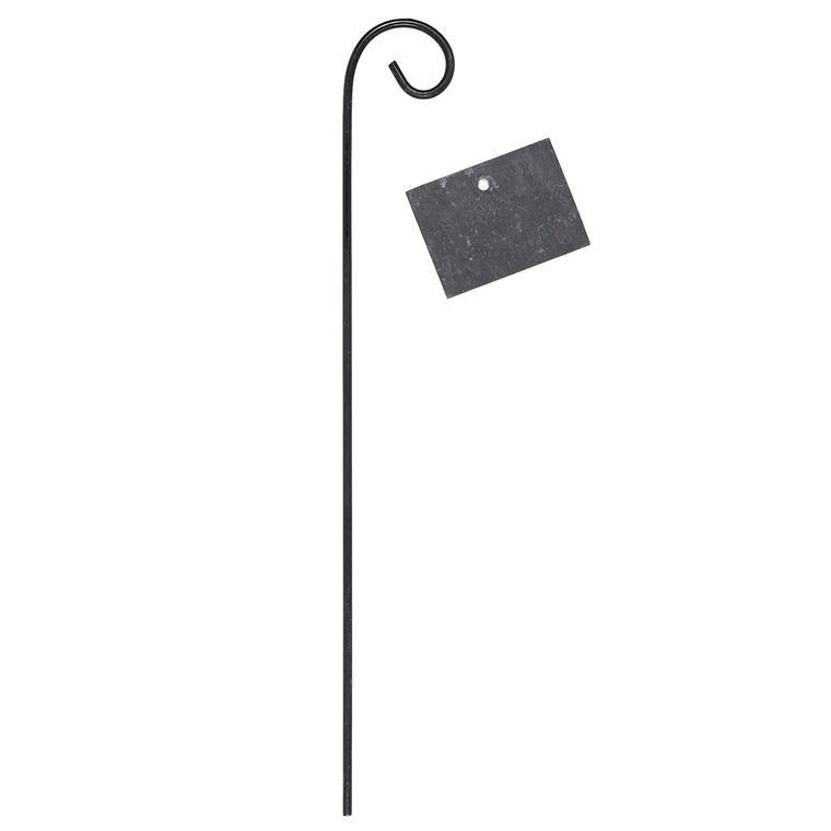 Porte étiquette + étiquettes en ardoise - 50 cm 54658