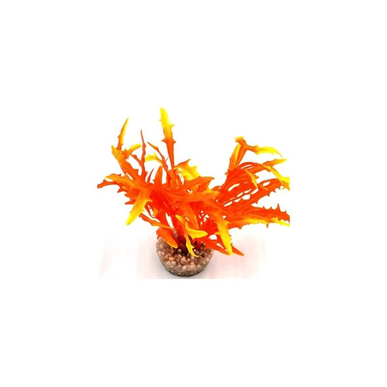Massif d'algue assorti orange en plastique 8 cm 54680