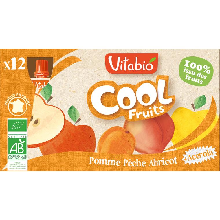 Cool Fruits Pomme / Pêche / Abricot bio - 12 x 90 gr 55074