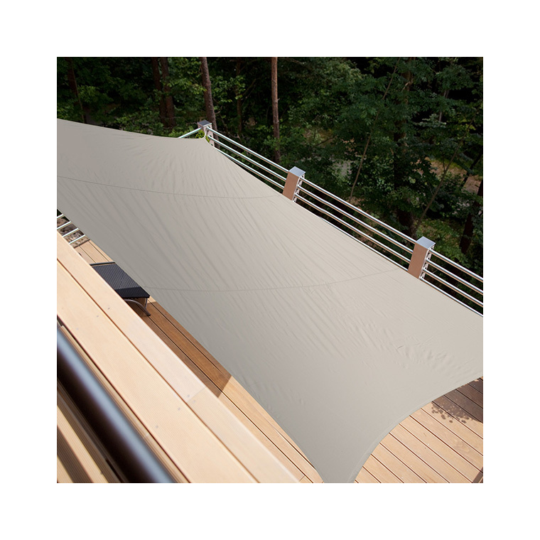 Voile ombrage rectangulaire taupe 4,20 x 3 m