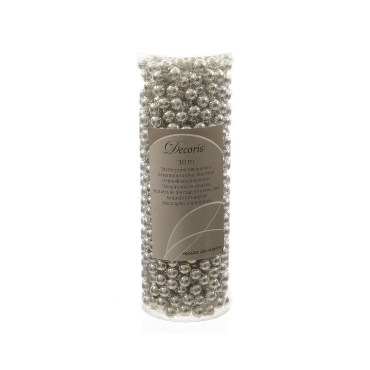 Guirlande de perles plastiques argent L 10m