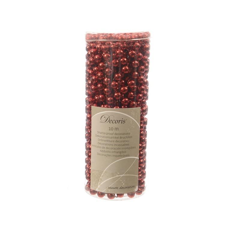 Guirlande de perles rouges 10m 55391