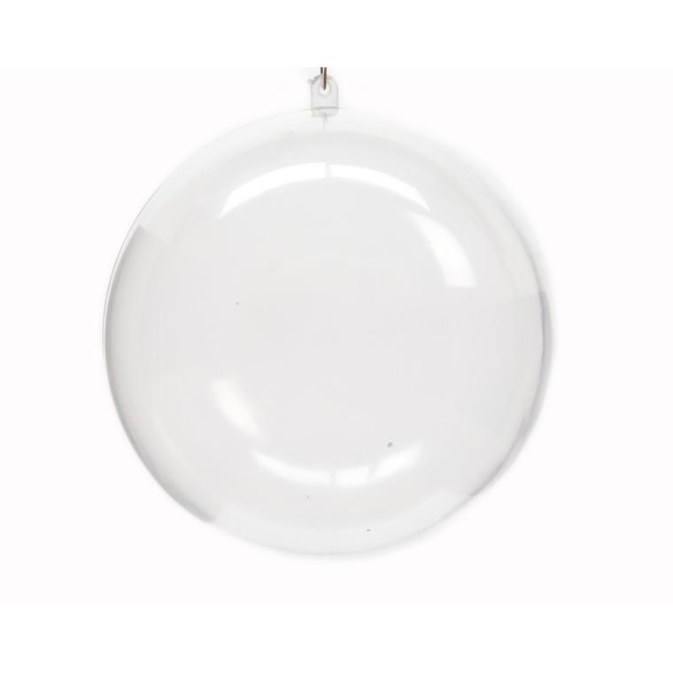 Boule de Noël plastique transparent à remplir D 12cm
