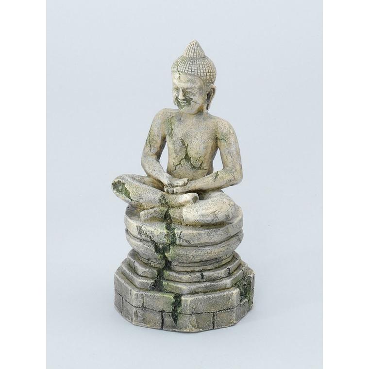 Statue bayon buddha pour aquarium gris 9x8,5xH17 cm 557159