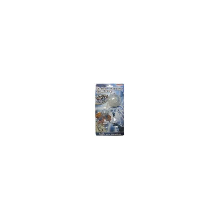 Décor aquarium méduses cristal / bleu x2