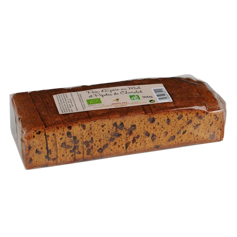 Pain d'épices miel et pépites de chocolat 300g 557862