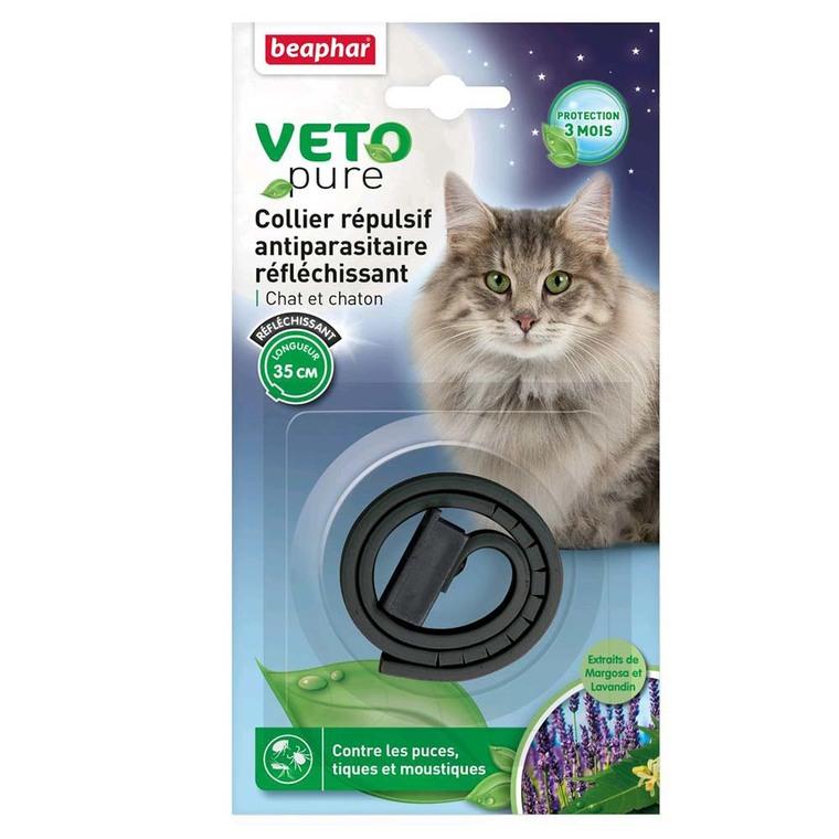 Collier insectifuge chat et chaton réfléchissant