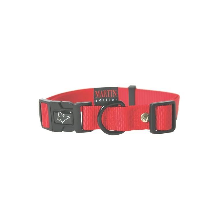Collier chien réglable 16mm / 30-45cm rouge