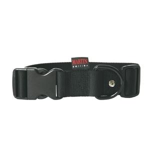 Collier chien réglable 40mm / 50-70cm noir