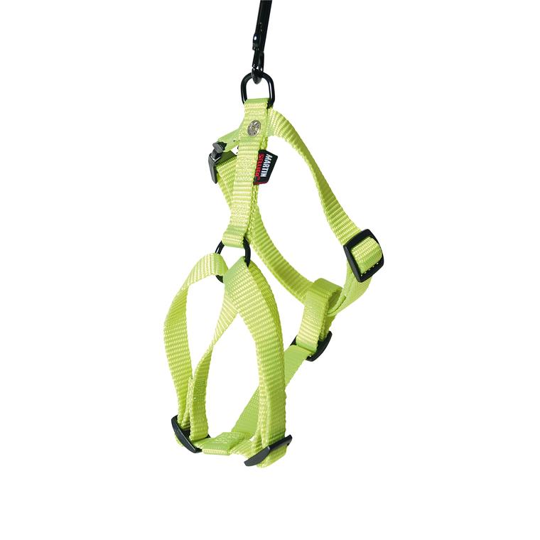Harnais Confort vert citron pour chien - 2,5x70/90 cm 558481