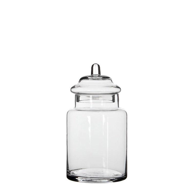 Bonbonnière Zita en verre transparent H 22 x Ø 13 cm 566417