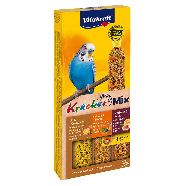Kräcker Perruche x3 miel fruits oeufs Vitakraft 101g 56937