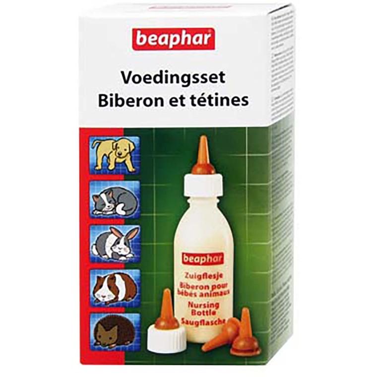 Kit biberon + 4 tétines et 1 goupillon pour animaux 573901