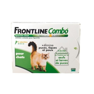 Frontline combo chat pipettes antiparasitaires x6
