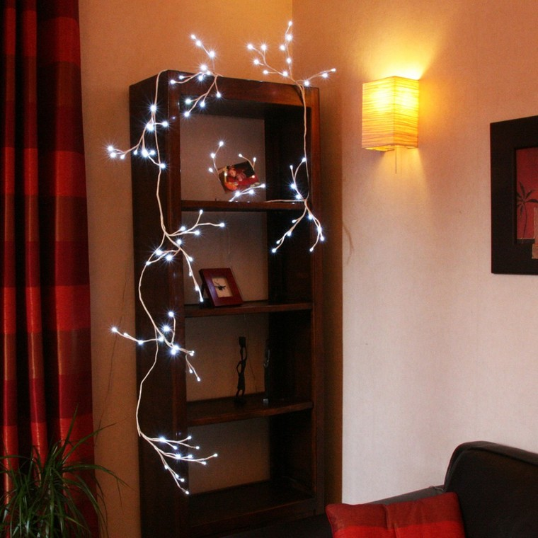 Guirlande lumineuse mini-branches led blanche 57972