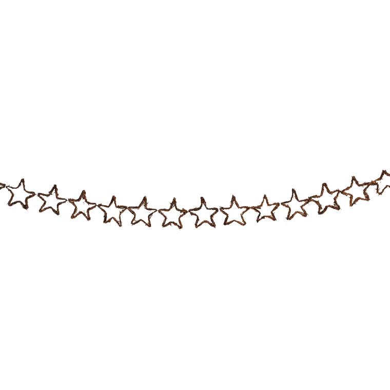 Guirlande étoile osier 160cm 58277