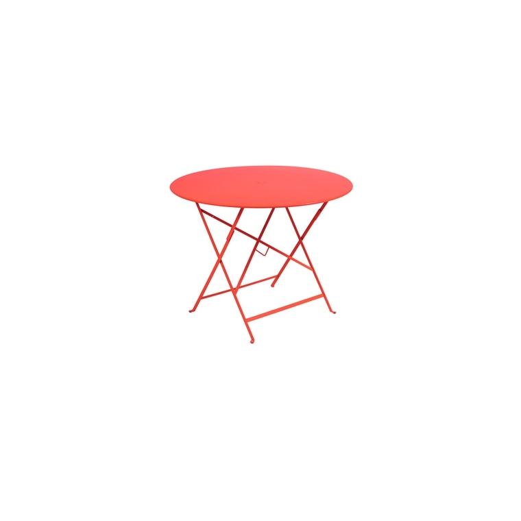 Table de jardin ronde pliante Bistro FERMOB capucine 96 x h 74 cm 583409