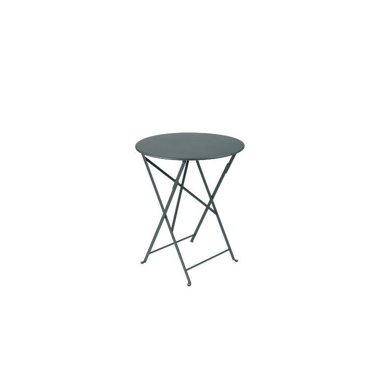 Table de jardin ronde pliante Bistro FERMOB gris orage 60 x h 74 cm 583422