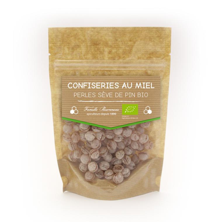 Bonbons au miel bio goût perles de sève de pin de 120 g 58830
