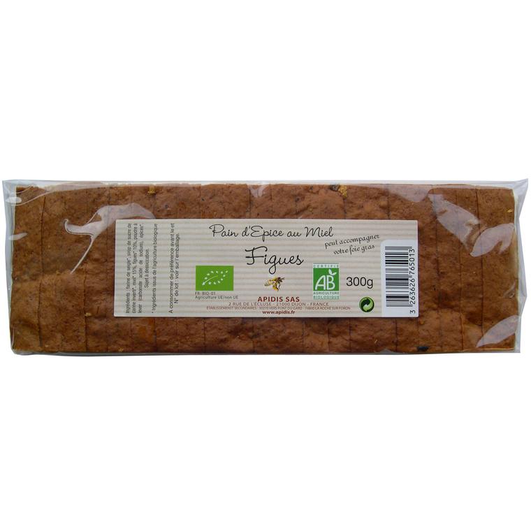 Pain d'épice aux figues pour foie gras - 300 gr