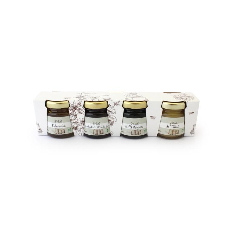 Verrines de miel bio 4 x 50 g 58841