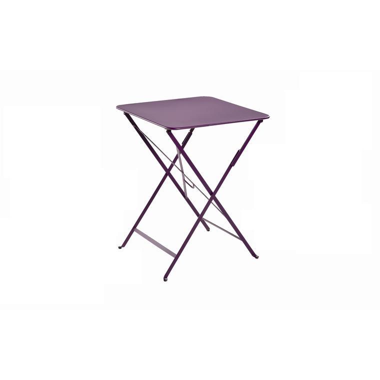 Table pliante carrée couleur aubergine 57 x 57 x 74 cm : Tables et ...
